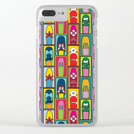 Vintage Shoe Collection Clear iPhone Case