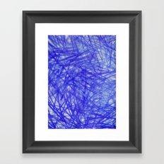 Ophelia Blue Scribble Framed Art Print