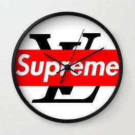supreme x lv logo Wall Clock