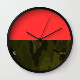 Camp Camo Wall Clock