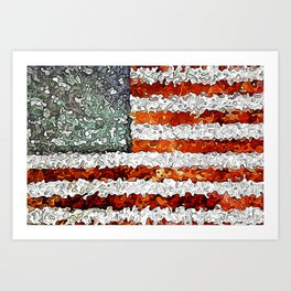American Flag Abstract Art Print