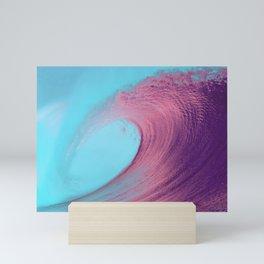 Pink Ocean Wave Photography Mini Art Print