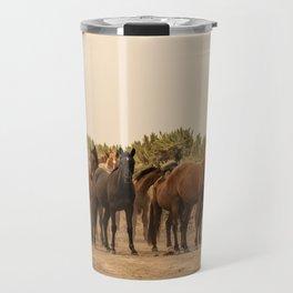 Wild Horses 6587 - Northwestern Nevada Travel Mug