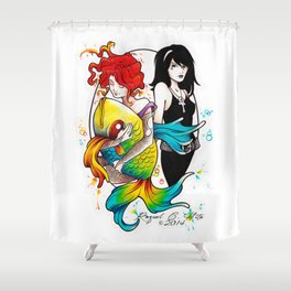 Delirium and Death Shower Curtain