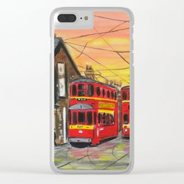 Evening Trams Clear iPhone Case