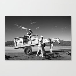 Family With The Cart Canvas Print