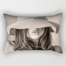 Beautiful Woman Rectangular Pillow