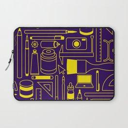 Art Supplies - Eggplant and Yellow Laptop Sleeve
