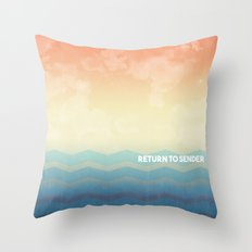 Return to Sender Throw Pillow