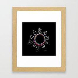 Only in the center Framed Art Print