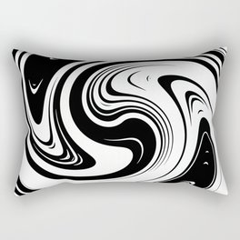 Black And White Spiral Swirl Rectangular Pillow