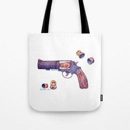 Russian Roulette Pun Tote Bag