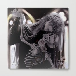 dance with death Metal Print