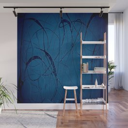 Pollock Inspired Blurred Blues Party - Corbin Henry Postmodernism Best Wall Mural