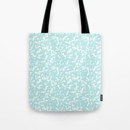Mint and White Composition Notebook Tote Bag