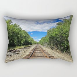 Beautiful Day Train Tracks Rectangular Pillow