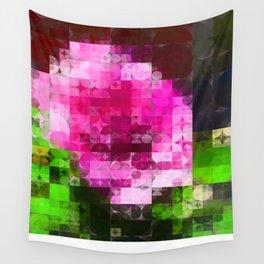 Rosas Moradas 1 Abstract Circles 2 Wall Tapestry