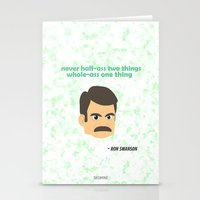 swanson Stationery Cards featuring Swanson by tukylampkin