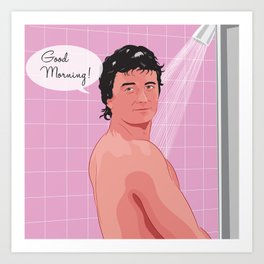 Bobby Ewing shower Art Print