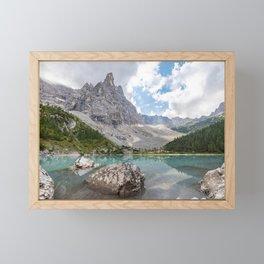 Sorapis Lake - Italy Framed Mini Art Print