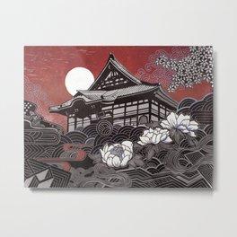 Genko-ji with Peony Metal Print