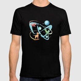 Atomic Rocket Powered Space Dogs T-shirt