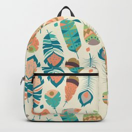 Tribal feather pattern 030 Backpack