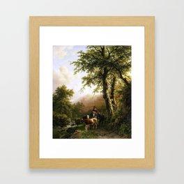 Koekkoek, Barend Cornelis -- Italiaans landschap, 1848 Framed Art Print