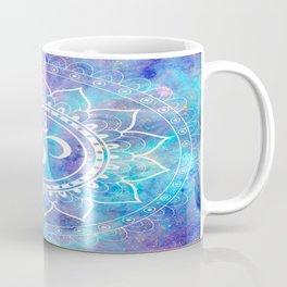 Om Mandala Pink Aqua Lavender Galaxy Space Coffee Mug
