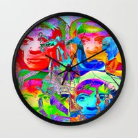 picasso Wall Clocks featuring Pop Picasso by Joe Ganech
