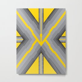 Yellow Pipe Metal Print