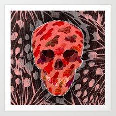 Butterflies Skull Art Print