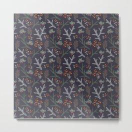 Retro. Christmas pattern . Metal Print