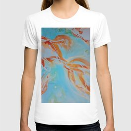 GoldFish Bubbles 1nw watercolor by CheyAnne Sexton T-shirt