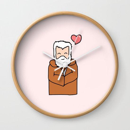 Obi-Wan Valentine Wall Clock