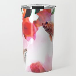 Pink clouds, photographic composition Travel Mug
