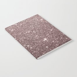 Modern mauve burgundy rose gold glitter Notebook
