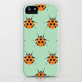 Lady Bug Green iPhone Case