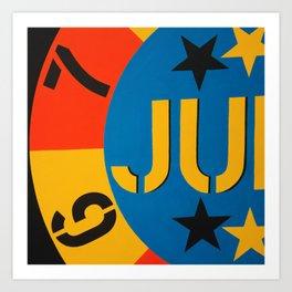 6 7 JU Art Print