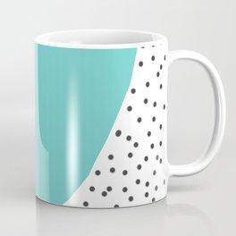 Turquoise heart with grey dots around Coffee Mug