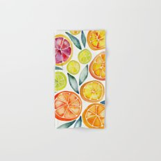 Sliced Citrus Watercolor Hand & Bath Towel