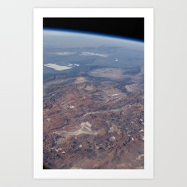 Andes Mountains Argentina Art Print