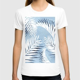 Tropical bliss - chambray blue T-shirt