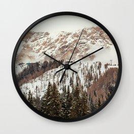 Panorama in Alta Badia, Alto Adige, Italian Alps Wall Clock