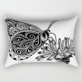 Tangled Butterfly on White Rectangular Pillow