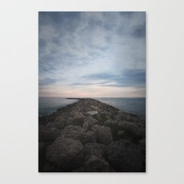 The Jetty at Sunset - Vertical Canvas Print