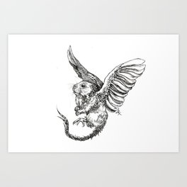 Whiskery Heights Art Print