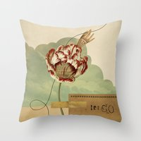 let it go Throw Pillows featuring Let Go by Field & Sky
