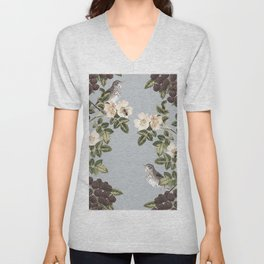 Birds and the Bees Gray Unisex V-Neck
