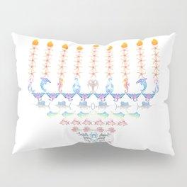 Marine Menorah 3 Pillow Sham